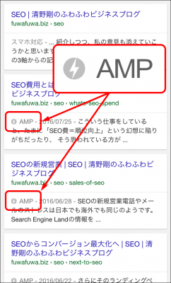 AMPのSERPs