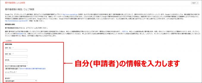 DMCA申請手順①